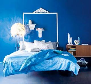 ambientes azul y blanco