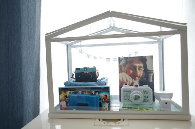 IKEA Socker Gewächshaus als Aufbewahrung für die Lomogrpahy Kameras