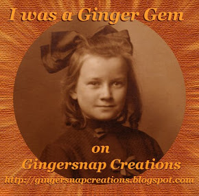 I'm so excited,  I'm a Ginger Gem!!