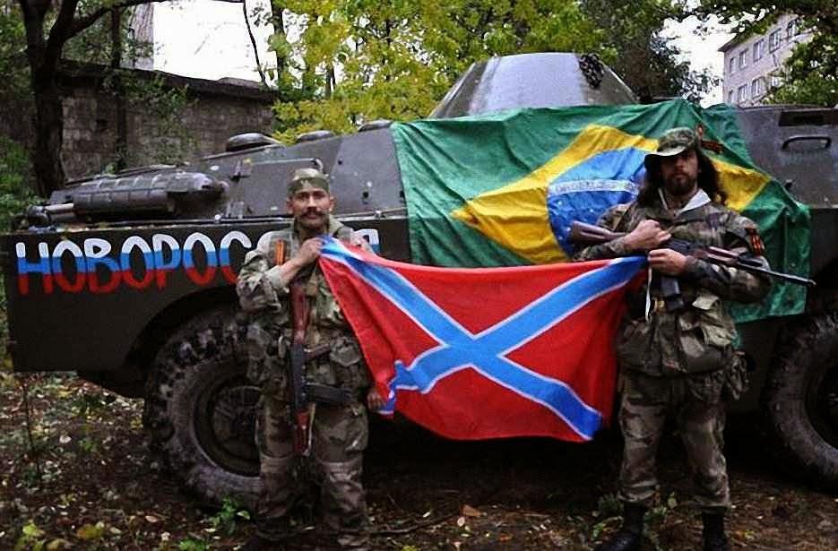 Hoje na Ucrânia lutando por Putin. Amanhã no Brasil por quem?