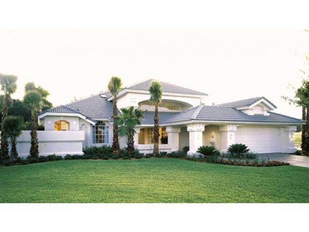 Mediterranean modern house plans dhsw18466 house for Split mediterranean house