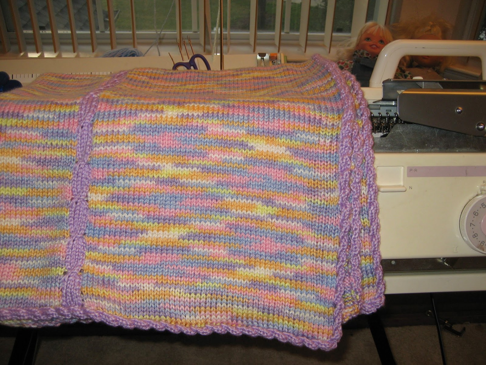 Machine Knit Baby Blanket Pattern : Diana natters on... about machine knitting: Its a Book! Best Baby Blanke...