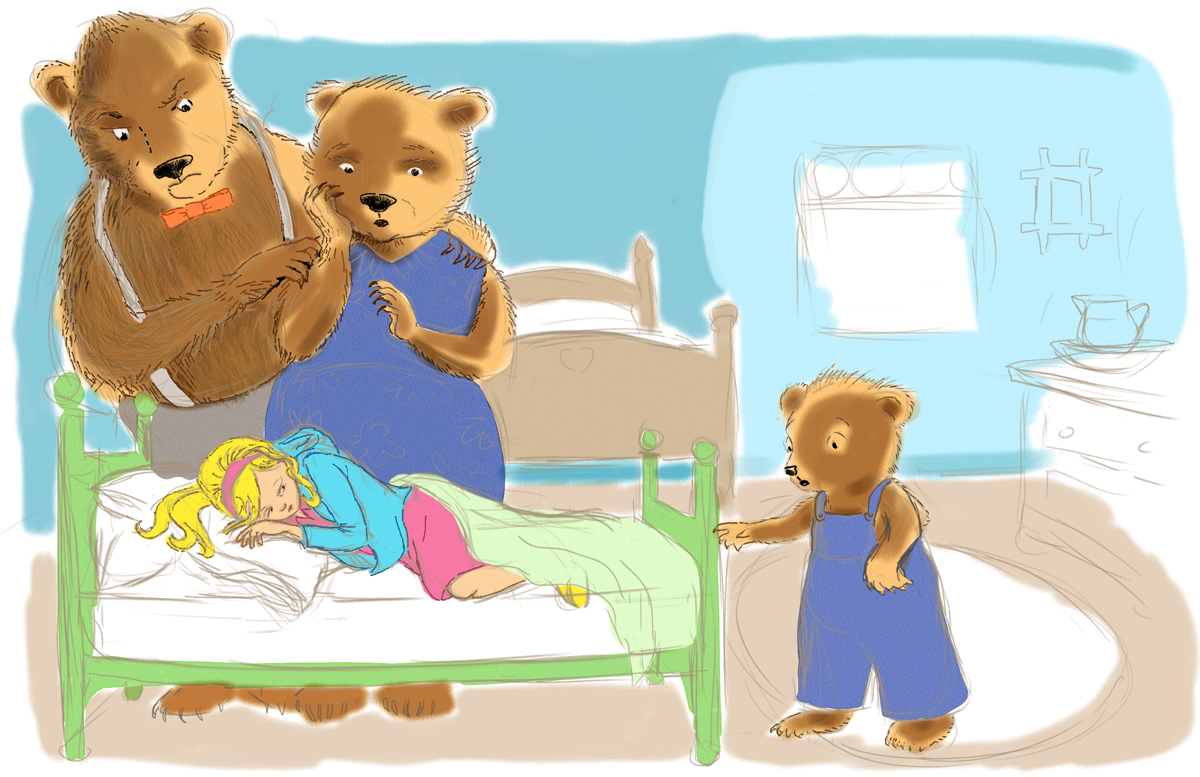 Uncategorized Goldilocks Bed goldilocks and the three bears thinglink they went upstairs to check on their beds saw sleeping in baby bed