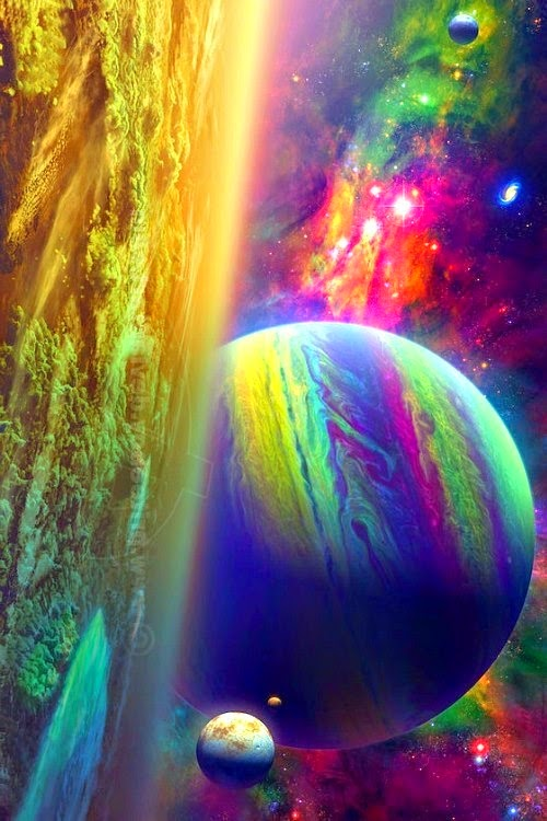 planets and stars beautiful colorful - photo #20