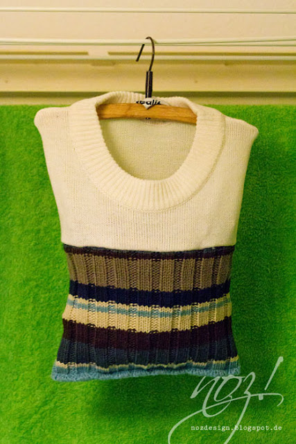 Upcycling - Sweaters - Clothes Pin Bag