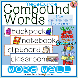 Compound Words Word Wall