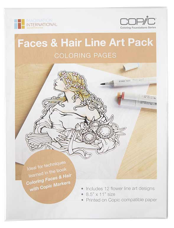 I like markers new coloring faces hair book Coloring book markers
