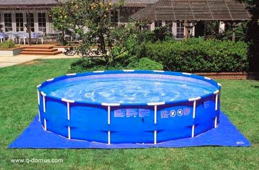 Arquitectura de casas distintos tipos de piscinas for Piscina lona rectangular