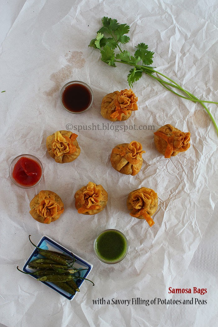 Spusht | Bag shaped samosa snack