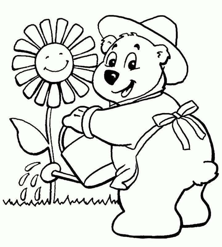 Lujoso Niños Primavera Para Colorear Galería - Dibujos Para Colorear ...