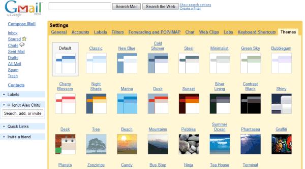Gmail Temaları