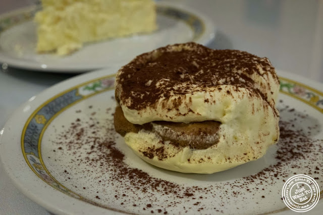 image of tiramisu at Il Colosseo in Bensonhurst, Brooklyn, New York