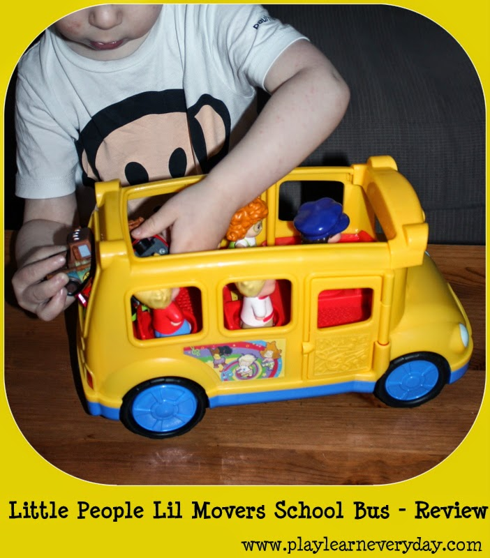 Fisher Price - Little People Lil\' Movers School Bus - Review - Play ...