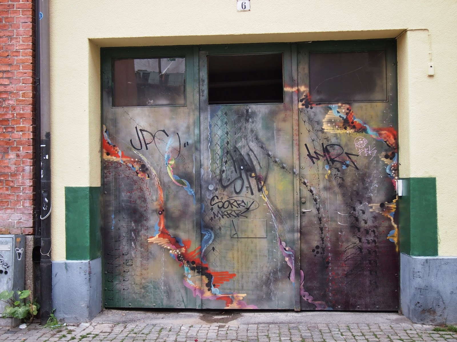 cool street art in Malmo Old Town