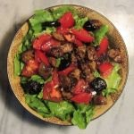 Escarole Salad with (Vegan) Italian Sausage