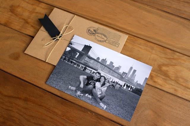 invitaciones de boda originales sobres craft hermanas bolena