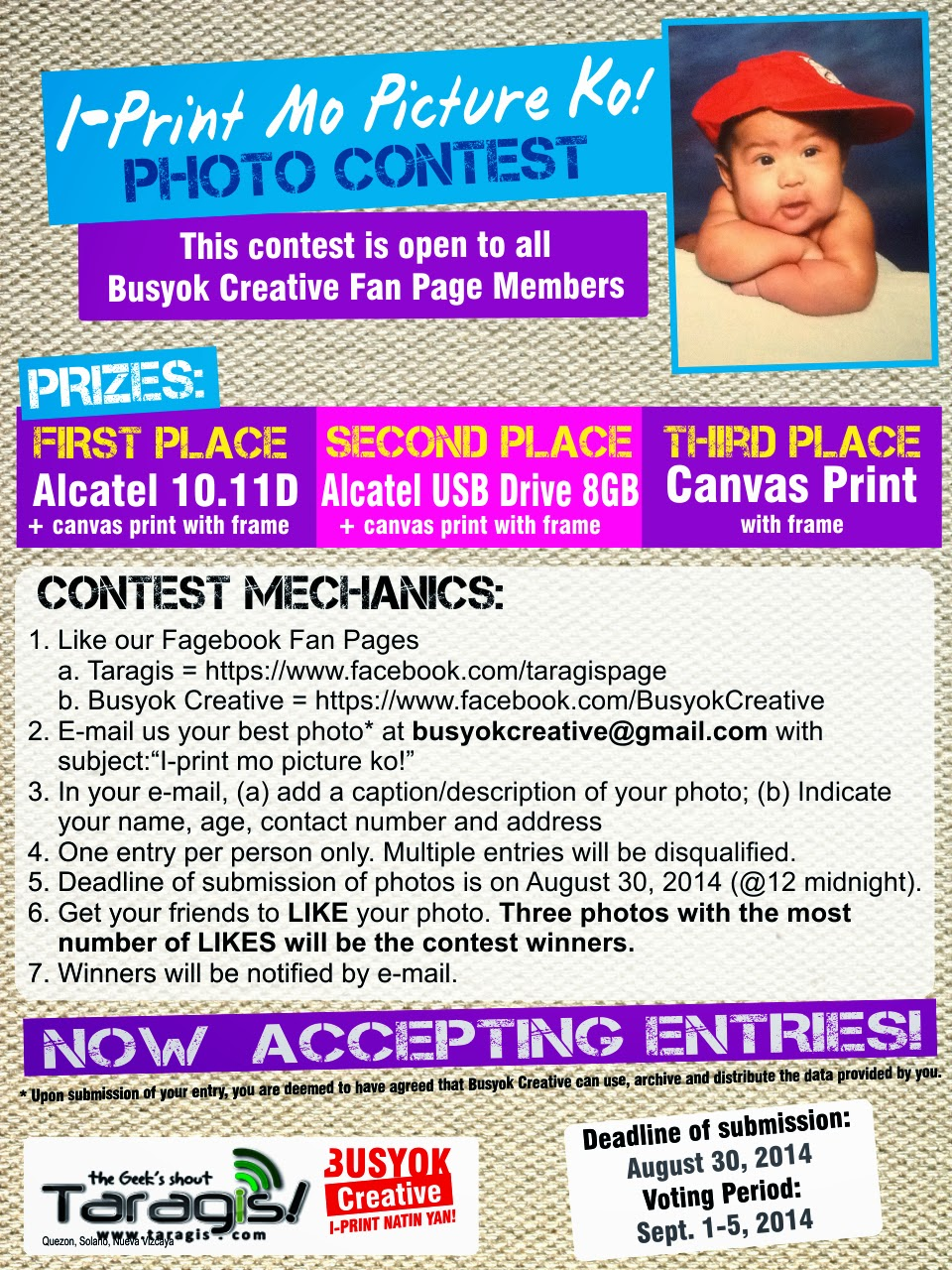 online, facebook, photo contest, likes, alcatel