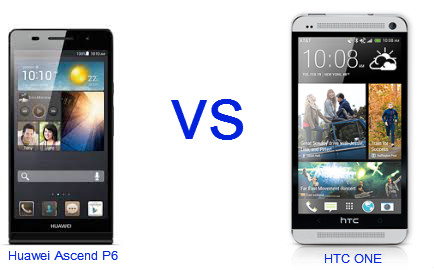 News for smartphone : Huawei Ascend P6 vs HTC One
