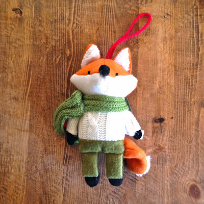 anthropologie fox ornament