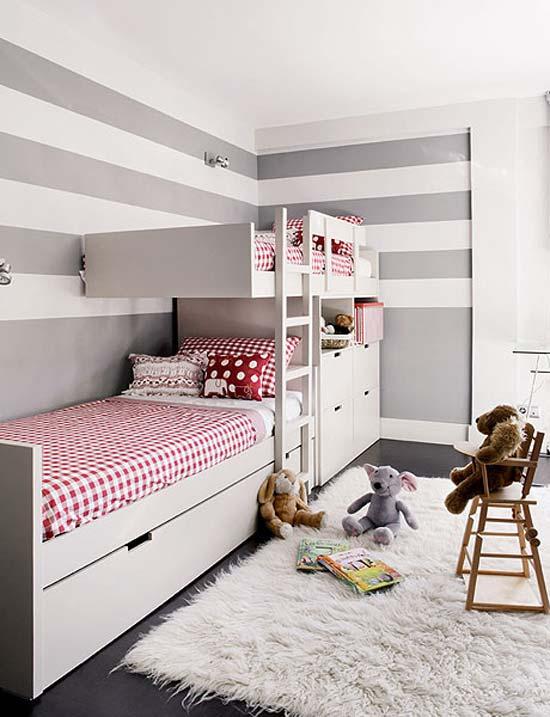 Bricolage e decora o quarto pequeno para dois irm os for Small room for kids