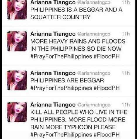 Arianna Tiangco twitter posts