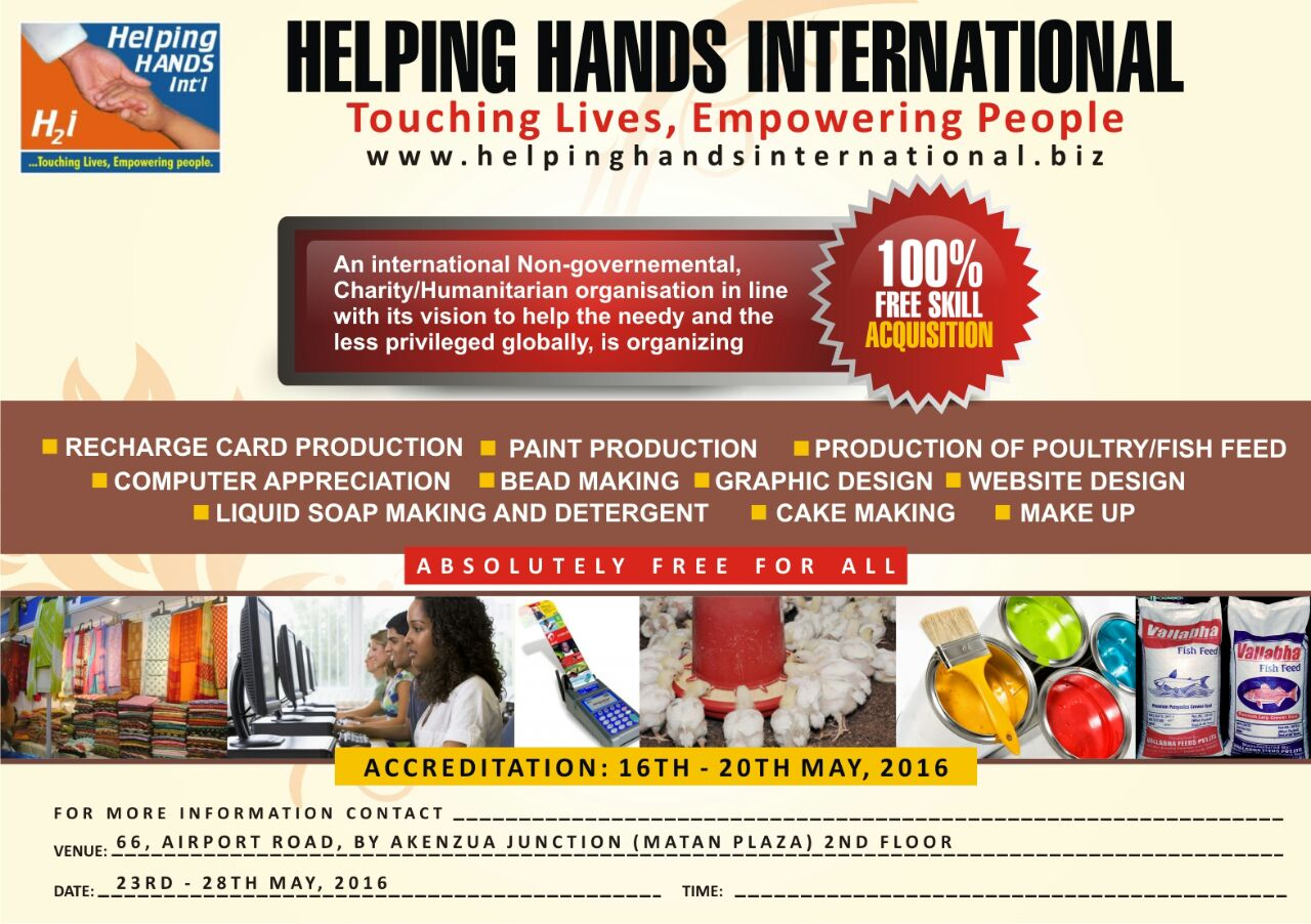 FREE Skill Acquisition and Traning - Benin