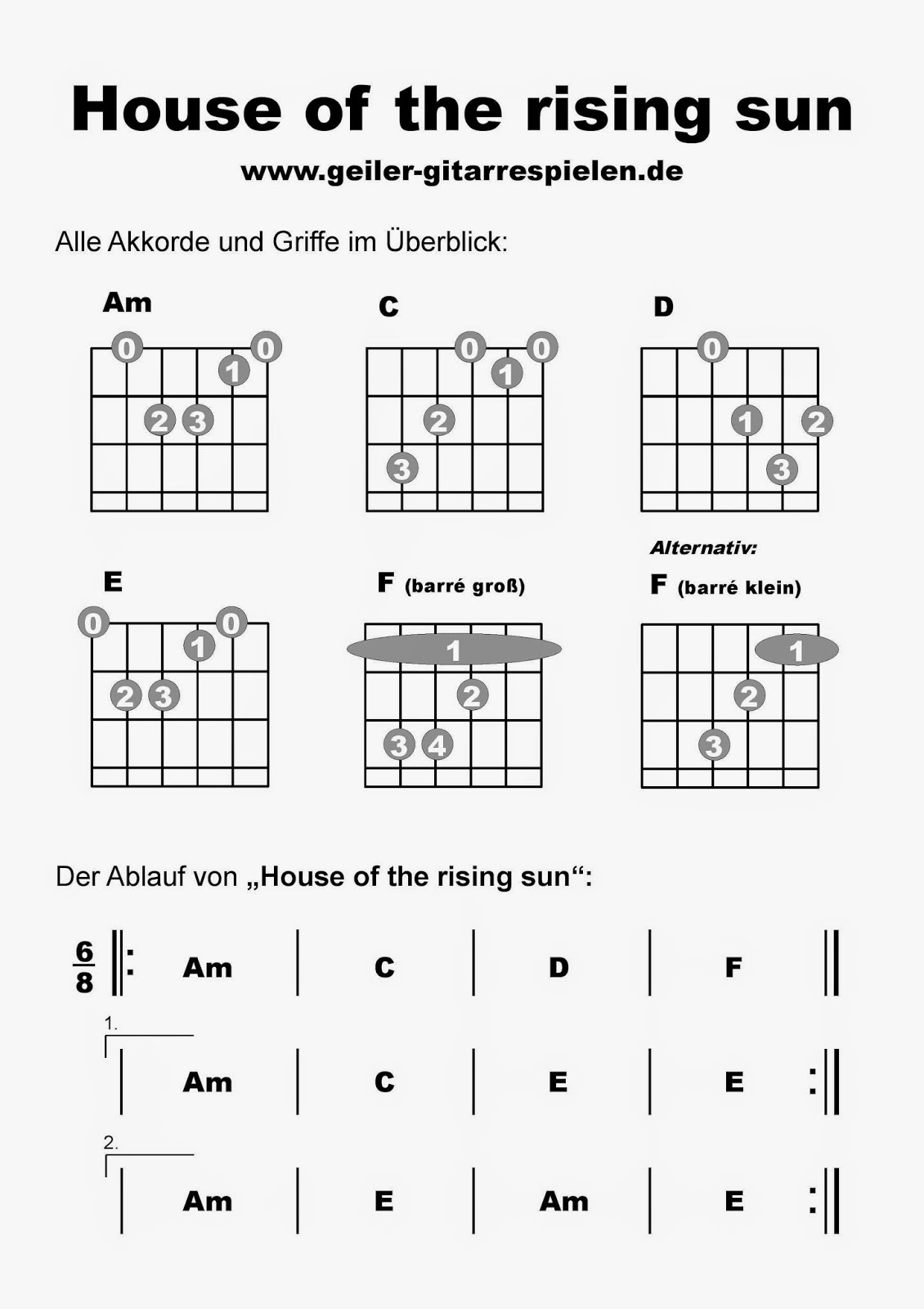 House of the rising sun tabs house plan 2017 for Classic house chords