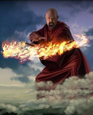 Thoros de Myr y su espada envuelta en llamas