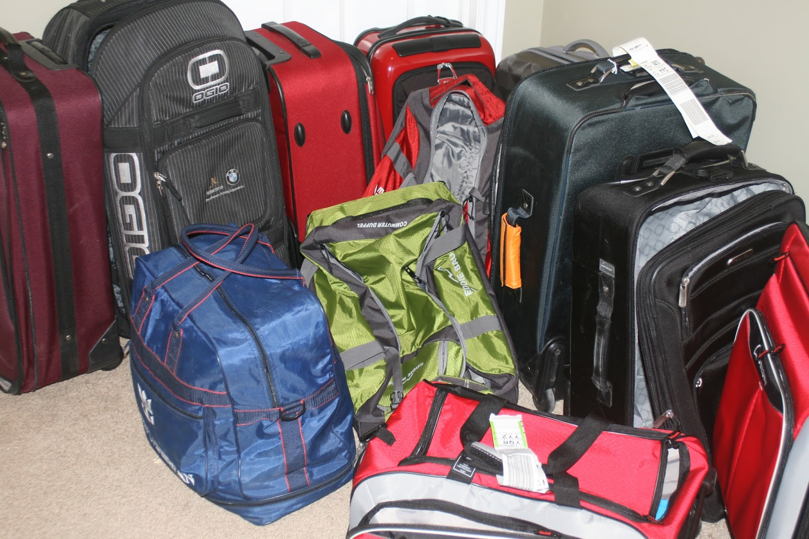 My Husband Travels Frequently And Likes To Have Some Suitcases Easily  Accessible In The Master Closet And A Few Sizes. We Had Not Only A Few  Suitcases But ...