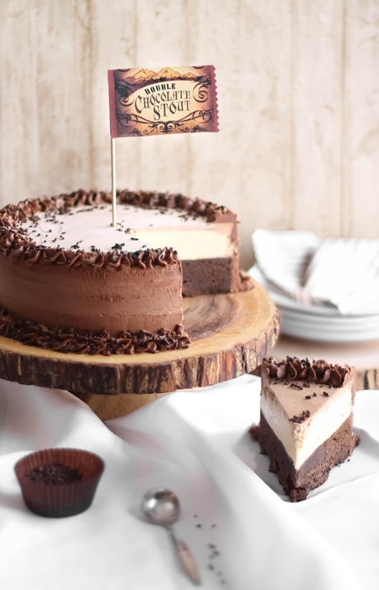 Double Chocolate Stout Mousse Cake Sprinkle Bakes