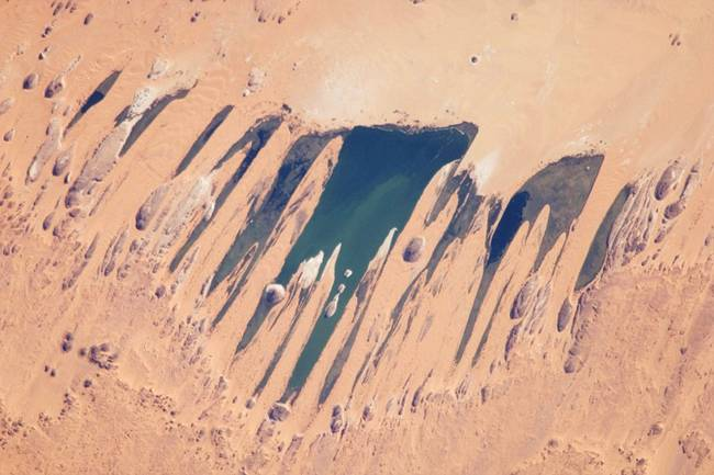 Unianga lake in the Sahara Desert (Chad).