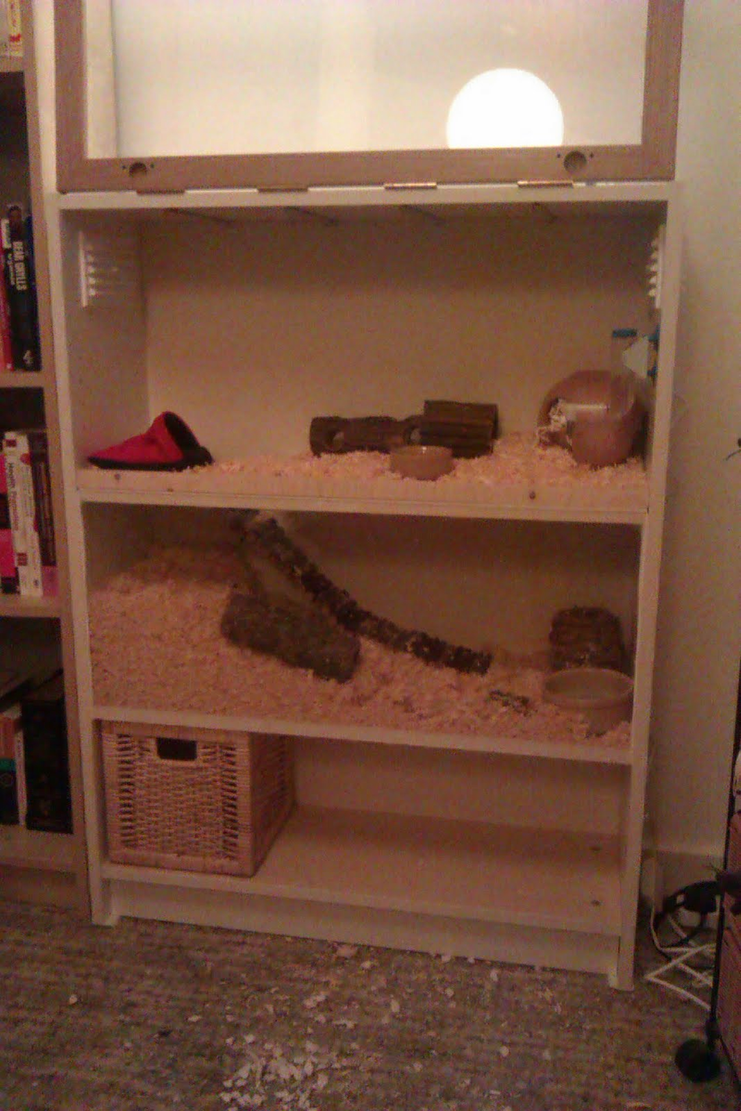 Make your own two storey hamster apartment ikea hackers for Ikea hamster cage