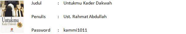 Download EBook Untukmu Kader Dakwah (KH. Rahmat Abdullah)
