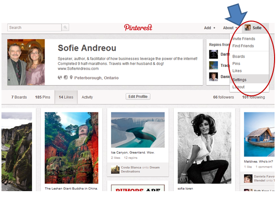 Sofie Andreou : Creating Your Business Pinterest Accounts - the 6 ...