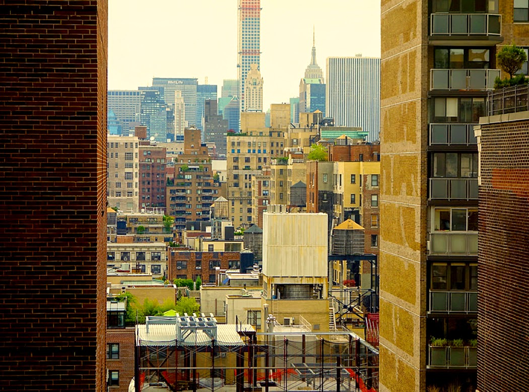 View from the Kimms' apartment, NYC