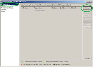 Create Android Virtual Device on Android SDK