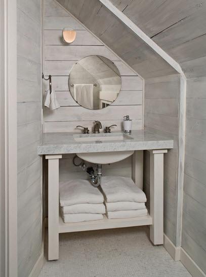 Puerta Baño Hacia Afuera:Como diseñar un cuarto de baño debajo de las escaleras [Modelos