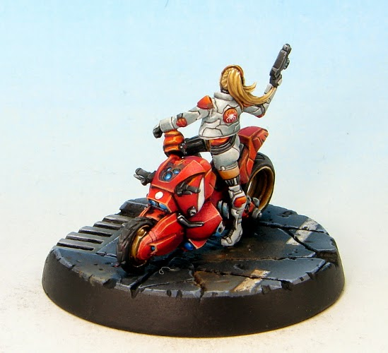 Painting Miniatures Red Violet Hair