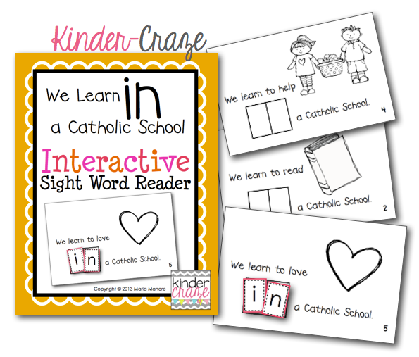 FREE emergent reader for Catholic Schools Week