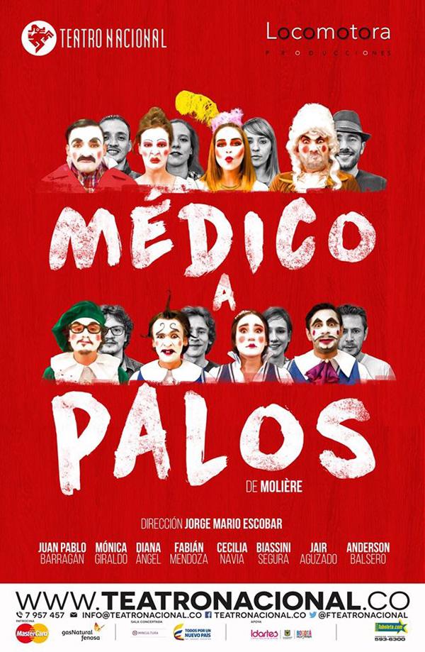 Médico-Palos-francés-Teatro