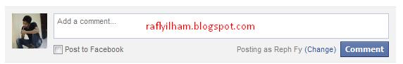 cara pasang komentar facebook di blog