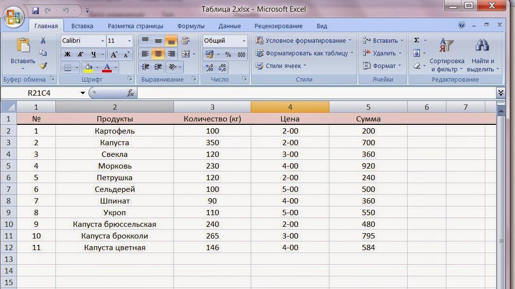 Как в экселе создать таблицу по зарплате - Meri30.ru