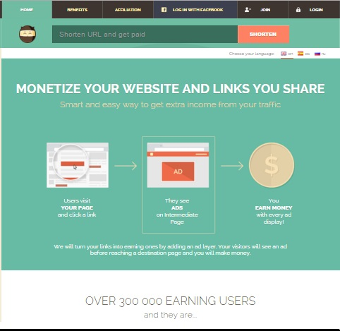 Shorte.st Review, shorten URL to earn money