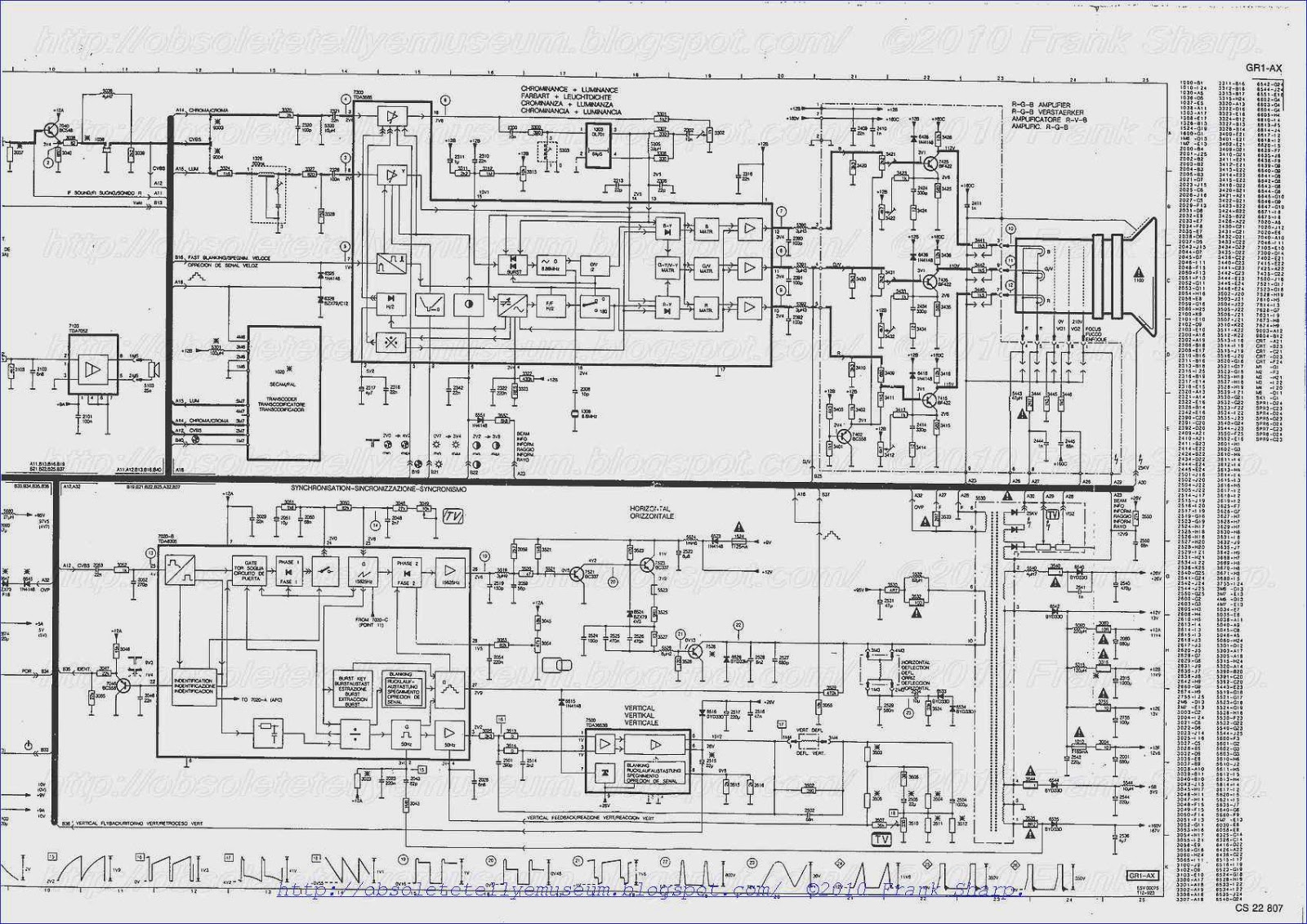 Obsolete Technology Tellye    Phonola  Philips  37kv1232 Chassis Gr1ax Internal View
