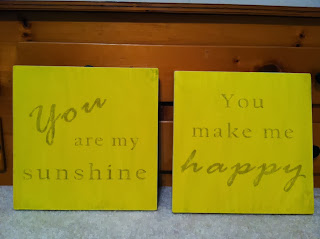You Are my Sunshine / You Make Me Happy ink transfer wall art for playroom or nursery | A Crafty Wife