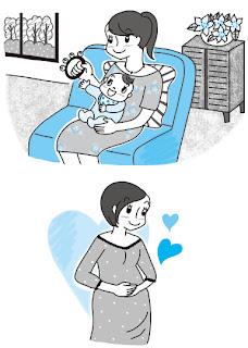 妊婦子育てママイラスト
