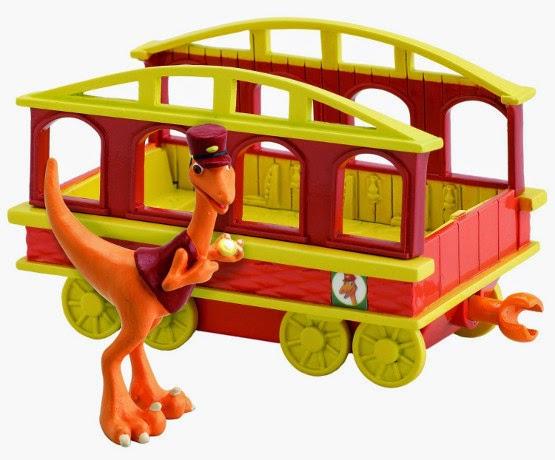 JUGUETES - DINOTREN  El Revisor con vagón | Figura - Muñeco | Troodon  Producto Oficial | TOMY LC53006MP | A partir de 3 años