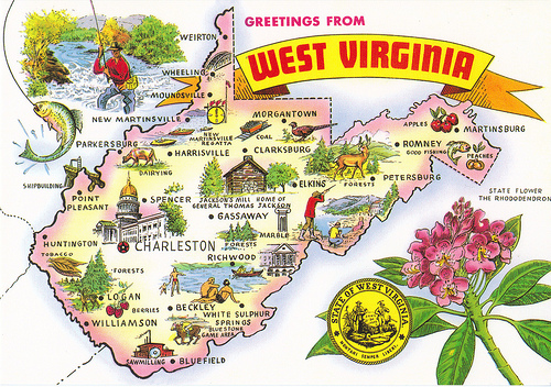 Fayetteville (WV) United States  City new picture : west to east: West Virginia Fun Facts