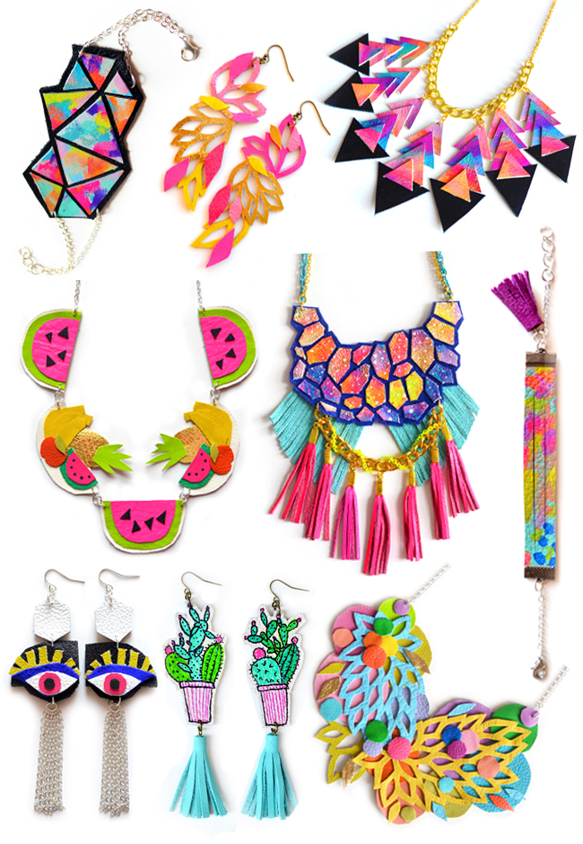 Boo and Boo Factory, leather jewellery, rainbow jewellery