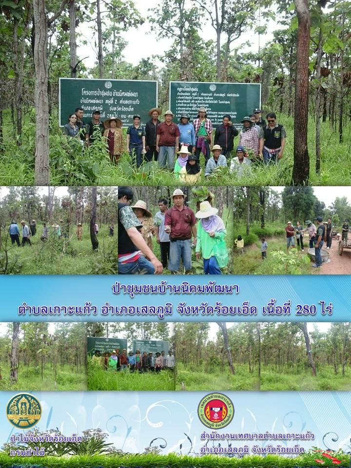 ป่าชุมชนบ้านนิคมพัฒนา เนื้อที่ 280 ไร่